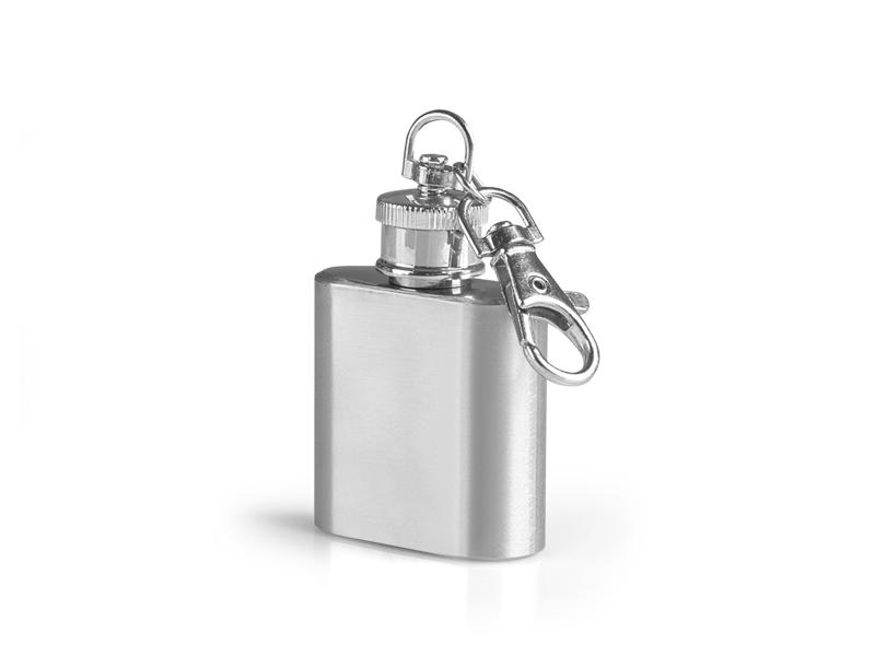 Metalni privezak za ključeve - pljoska 25 ml